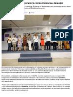 27-11-2018 Astudillo Flores Inaugura Foro Contra Violencia a La Mujer.