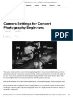 Camera Settings for Concert Photography Beginners