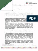 03-11-2018 RECONOCE HÉCTOR ASTUDILLO LA CONTRIBUCIÓN DE MUNDO IMPERIAL A ACAPULCO.
