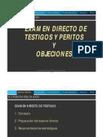Examen Directo y Objeciones