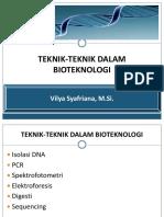 Teknik2 Dalam Biotek
