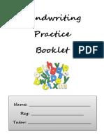 Handwritting Practice Booklet