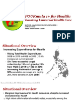 4 FOURmula 1 for Health Boosting Universal Health Care by Dr Beverly Ho