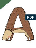 Literele Alfabetului Deghizate in Animale Si Monstruleti Materiale Pentru Decupat