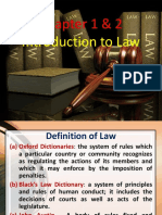 Chapter 1 2 - Intro, Sources Classifications of Law