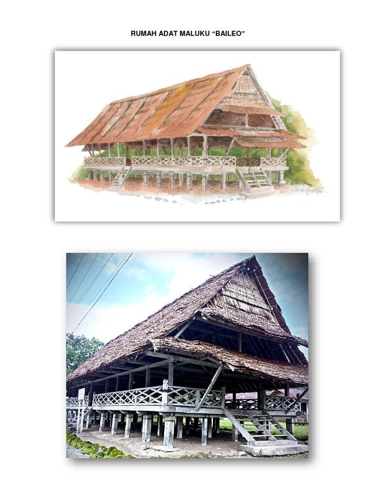 """Rumah Adat Maluku """"Baileo"""""""