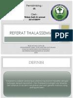 Ppt Referat Thalassemia (Idan)