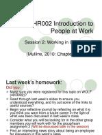 4HR002 Week 2-Groups and Teams at Work