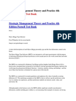 Strategic Management Theory and Practice 4th Edition Parnell Test Bank