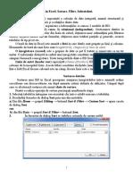 Tema Baze de Date in Excel