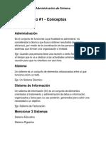 Conceptos y Definiciones de la Administración de Sistema