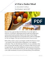 Jesus Didnt Eat a Seder Meal Christianity Today