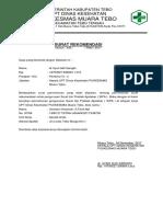 Surat Rekomendasi p. Bidan
