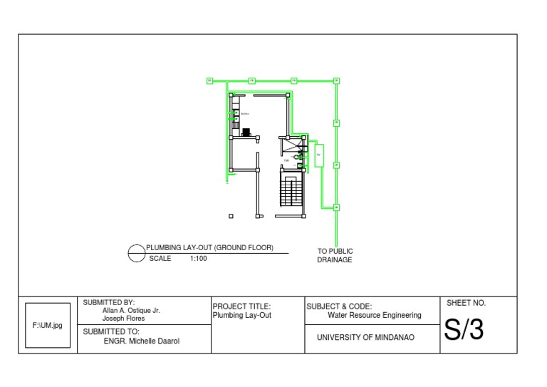 Plumbing And Drainage Schematic Diagram