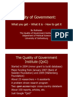 What is Quality of Governance 1