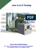 Transformer a to Z Testing-Ready Catalogue