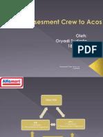 Bahan assessment crew to acos alfamart