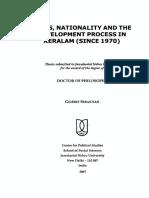 Gilbert Sebastian - Class, Nationality and the Development Process in Keralam Since 1970