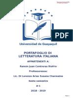 Portafoglio Letteratura Italiana 6to Semestre
