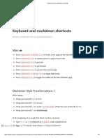 Keyboard and Markdown Shortcuts Notion.so