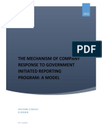 THE MECHANISM OF COMPANY RESPONSE TO GOVERNMENT INITIATED REPORTING PROGRAM
