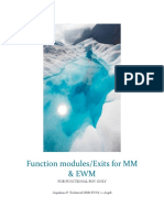 Function Modules Available in MM & EWM