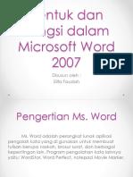 Bentuk Dan Fungsi Dalam Microsoft Word 2007