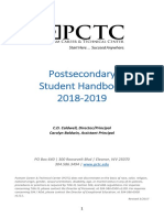 pctc student handbook 2018-2019 rev