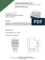 Disjoncteur Différentiel 4P 380V 32A 300Ma