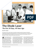 The Diode Laser The First 30 Days, 40 Years Ago