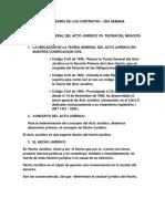 Derecho Civil Vi Teoria de Los Contratos 2da Semana