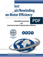 The Effect Of RepairRewinding On Motor Efficiency