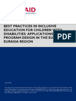 Best Practices in Inclusive Education for Children With Disabilities