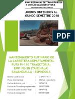 Mantenimientos Rutinario y Periodicos de Las Carreteras Departamentales