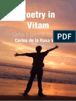 Carlos de la Rosa Vidal - Poetry in Vitam - Cartas & Poemas en Prosa