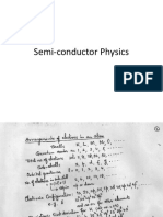 Semi-conductor Physics 1