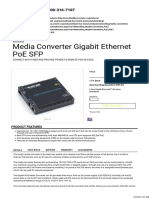 Media Converter Gigabit Ethernet PoE SFP - Black Box