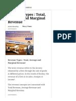 Revenue Types _ Total, Average and Marginal Revenue