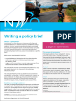 Basic Policy Brief Template Example