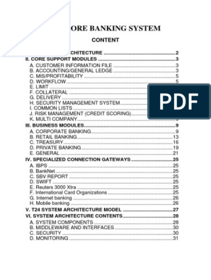 core banking functions pdf free