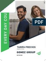 Tarifa 2018 Contadores Gomez
