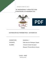 Estimacion de Parametros - ESTADISTICA