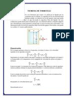 Torricelli y Bernoulli