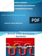 Industrial waste Heat Recovery technologies (Lecture-4).pptx