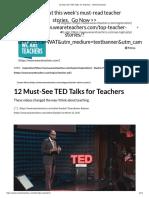 12 must-see ted talks for teachers - weareteachers  1
