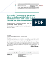Successful Treatment of Hepatitis C Virus by Ledipasvir/Sofosbuvir in a Cirrhotic Patient with Sickle Cell Disease and Thalassemia Minor.
