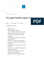 laws against torture