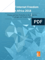 State of Internet Freedom in Africa 2018