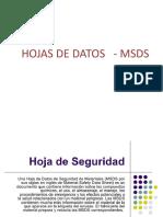 HOJAS DE DATOS   - MSDS Y CODIGO DE COLORES PARA ID DE PELIGROS.pptx