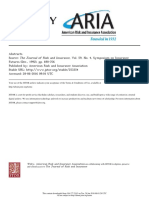 Abstracts Source- The Journal of Risk and Insurance
